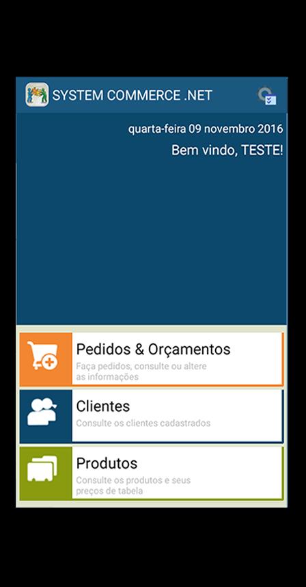 tela inicial do aplicativo mobile